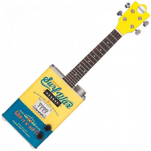 BOHEMIAN OIL CAN UKULELE ~ SURF WAX - Electric - BGU15SW